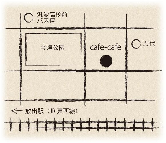 cafe-cafeばらんす食堂の地図